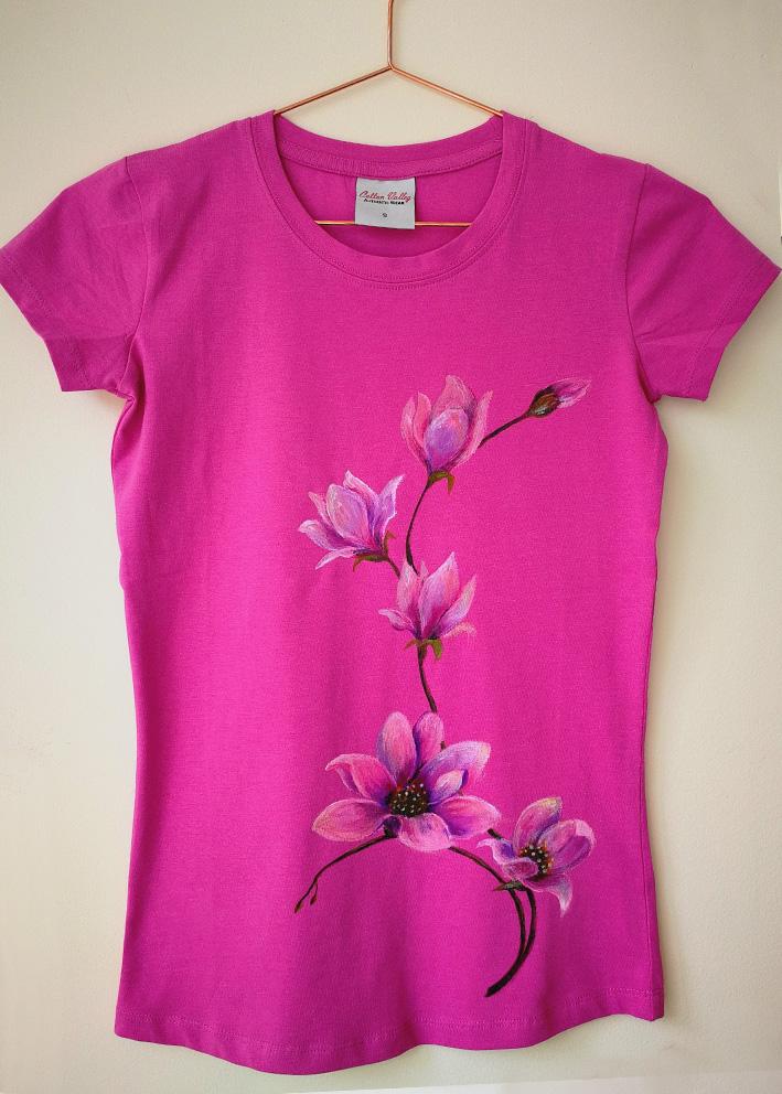 Magnolia Handpainted T Shirt Yelena Kosikh Official Website